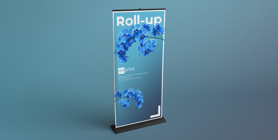 Banner roll-up con stampa monofacciale